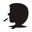 Woman and lipstick