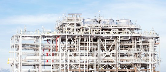 Panorama of LNG Refinery plant
