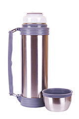 Steel thermos with cap