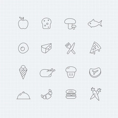 Food vector thin line symbol icon