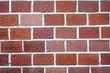Klinkerwand aus roten Backsteinen