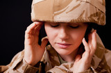 Distraught Female Soldier