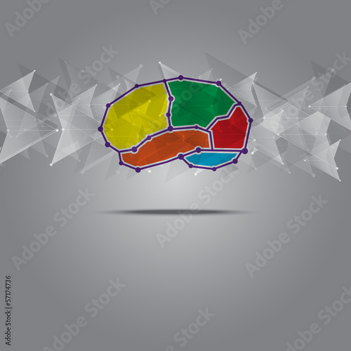brain symbol design with arrow