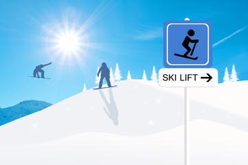 Skilift sign