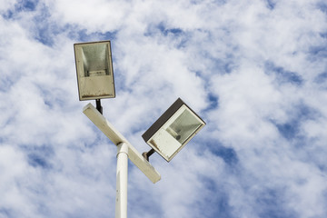 Lamppost  on cloud sky
