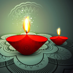 Deepawali festival colorful background vector
