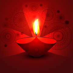 Happy diwali shiny beautiful bright celebration colorful vector