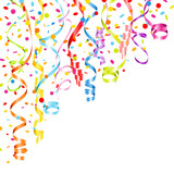 Streamers & Confetti Color Party Background