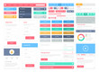 Flat user interface elements set