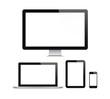 Leinwanddruck Bild - Modern computer and mobile devices set