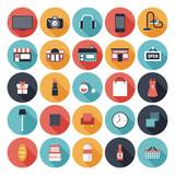 Fototapety Flat shopping icons set