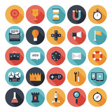 Game design flat icons set
