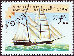Brig sailing ship (Somalia 1998)
