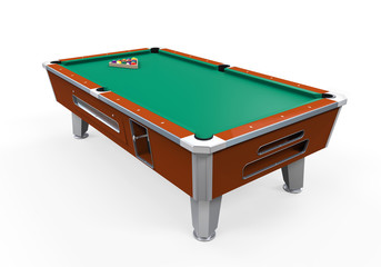 Billiard Table Isolated