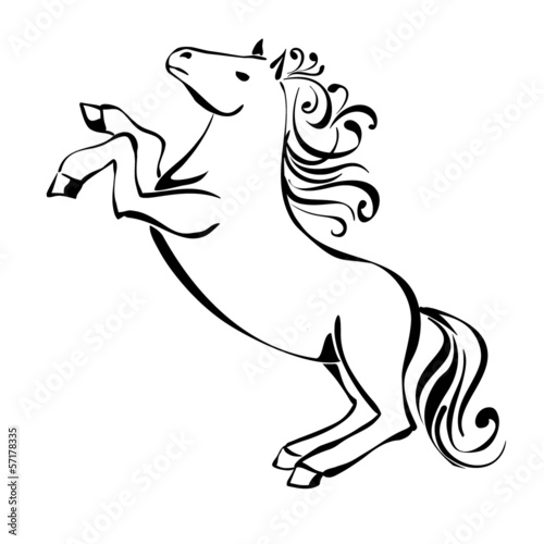 Horse  sketch  Hands drawing vector illustration