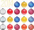Set of colorful Christmas balls, illustration
