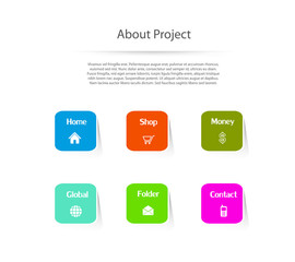 Website template design menu navigation elements