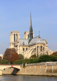 Notre Dame de Paris and the Seine river in Paris