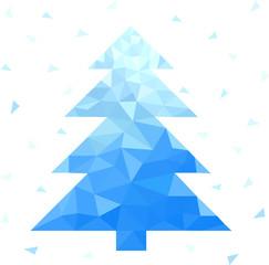 abstract geometric christmas tree