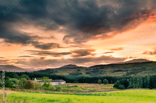Sunset in the Highlands