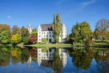 Old castle with pond in Upper Austria