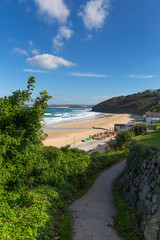 South West Coast Path Carbis Bay Cornwall England near St Ives