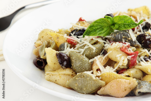 Prepared Conchiglie Pasta Salad