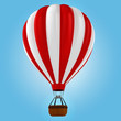 3d colorful hot air balloon