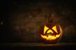 canvas print picture - Halloweenkürbis