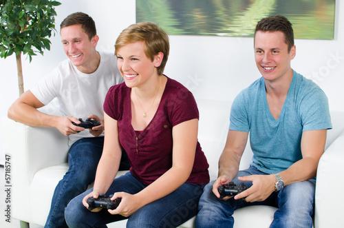 spaß am spielen mit der konsole