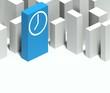 3d clock symbol in conceptual model of city