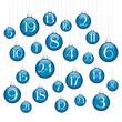 Advent Calendar Christmas Balls Blue/Silver