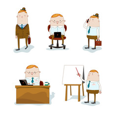 Businessman in different situations