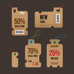 Price tags. Vector.