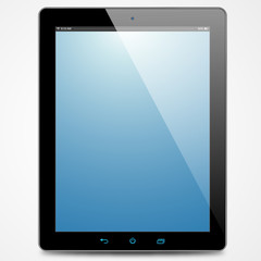 The new tablet with blue screen
