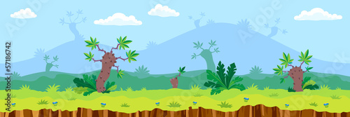 Seamless cartoon landscape