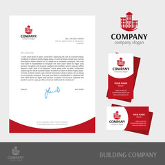 Business cards collection for build company