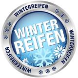 """Button """"Winterreifen"""" blau/silber"""