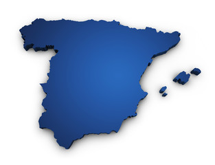 Map Of Spain 3d Shape