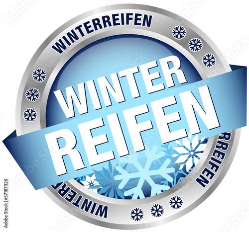 """Button Banner """"Winterreifen"""" blau/silber"""