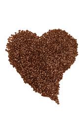 coffe beans heart shaped