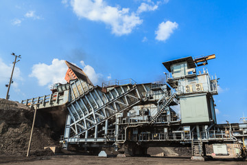 Coal Crusher in open pit