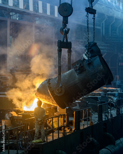 Iron and steel plant  workshop