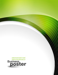 Presentation of business poster. Design layout template