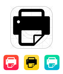 Printer with document icon.