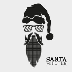 Santa Hipster Vector