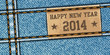 Happy New Year - Denim texture