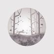 Fresh Forest Scenic - Vector illustration.