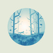 Fresh Forest Scenic - Vector illustration.