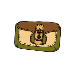 Fashion Illustration of a handbag with a buckle